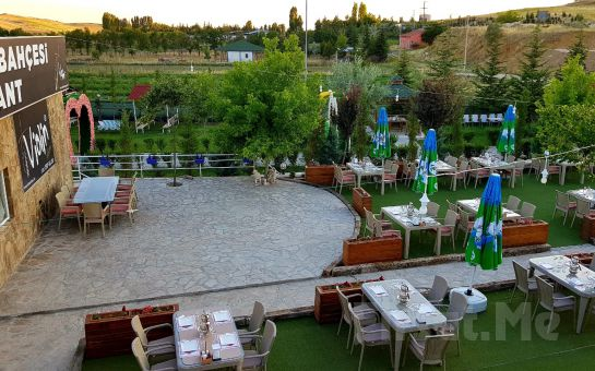 Violin Kır Bahçesi Çankaya'da Yemyeşil Bahçede Serpme Kahvaltı Keyfi