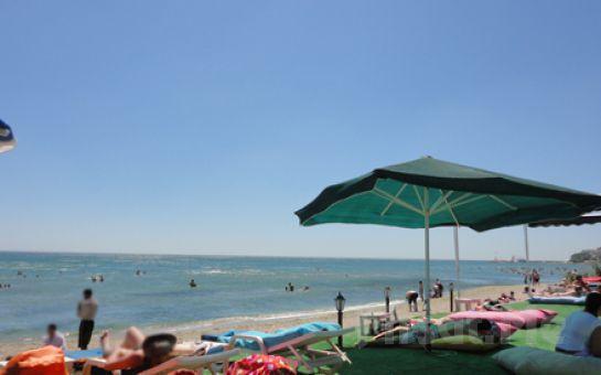 Silivri Coast Beach'te Doyasıya Güneş ve Plaj Keyfi, Şezlong, Minder, Şemsiye, 1 Adet Soft İçecek