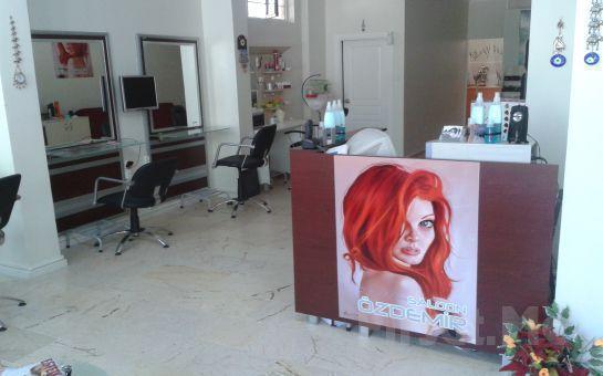 Maltepe Salon Özdemir'den, Boya + Kesim + Argan Cure İle Saç Bakımı + Fön + Manikür + Pedikür Uygulaması Fırsatı!