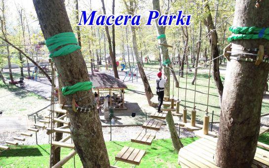 Avcıkoru Tabiat ve Macera Parkı Şile'de Yeşilliklerin Arasında Park Girişi ve Kahvaltı Seçenekleri