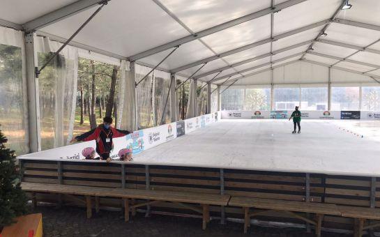 Ice Rink Kemerburgaz Kent Ormanı'nda Buz Pateni Keyfi