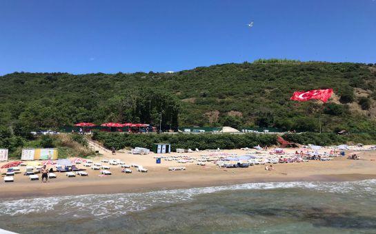 İstanbul'un Ölüdeniz'i Sarıyer Büyük Liman Beach'te Tüm Gün Plaj Keyfi