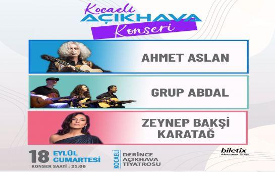 Anadolu Müziğinin Ünlü Sanatçıları 'Ahmet Aslan & Grup Abdal & Zeynep Bakşi Karatağ' Konser Bileti