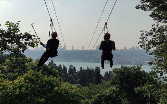 Nakkaştepe Zipline, Watergarden Zipline ve İsfanbul Zipline Biletleri
