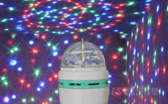 Evinizi Gerçek Diskoya Dönüştürecek Döner Başlıklı Kristal Led Disko Lambası