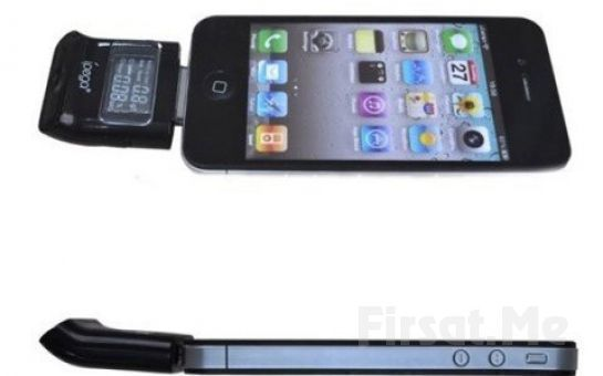 IPhone, iPad ve iPod Uyumlu, LCD Ekranlı iPega Alkol Test Cihazı!