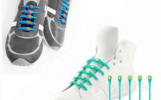 Güne Renkli Başlayın! 12 Adet Renkli Silikon Ayakkabı Bağı!