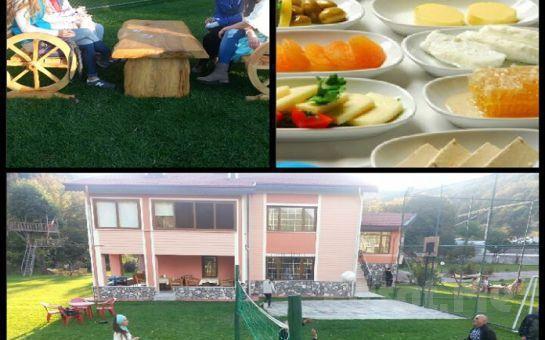 Abant'ta Bahçeli Köşk'te Doğanın Güzelliği İçerisinde Enfes Lezzetlerden Oluşan Serpme Köy Kahvaltısı!