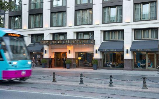 Boğaz'ın Kenarında Eşsiz İstanbul Manzaralı Tophane Nidya Hotel Galataport'ta 2 Kişi 1 Gece Konaklama, Türk Hamamı, Spa Fırsatı