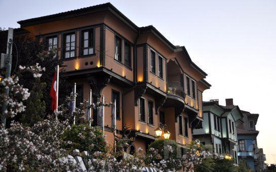 Kültür Mirası Eskişehir Odunpazarı Abacı Konak Otel'de 2 Kişi 1 Gece Konaklama ve Kahvaltı, Akşam Yemeği Seçeneğiyle