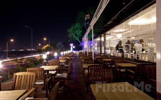Kızkulesi Manzarasıyla Cafe 5. Cadede'de Nargile Keyfi, Meyve, Çerez, Çay Fırsatı