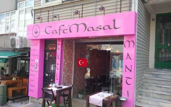 Beşiktaş Masal Cafe'de Leziz Kahvaltı Menüsü veya Ev Yapımı Mantı Menüsü