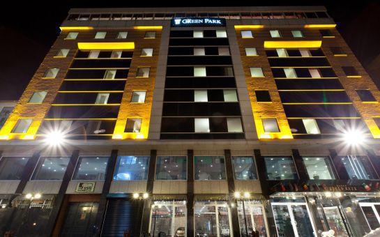 5 Yıldızlı The Green Park Hotel Diyarbakır'da 2 Kişi 1 Gece Konaklama ve Açık Büfe Kahvaltı