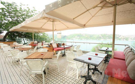 Rumeli Hisarı Seyir Terrace Restaurant'ta Muhteşem Boğaz Manzarası Eşliğinde Canlı Müzik ve Sınırsız İçki Dahil Akşam Yemeği Keyfi!