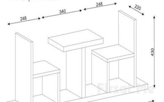 Dekorister Modüler Mobilya'dan, 'Dekorister Sense Kitaplık' Fırsatı