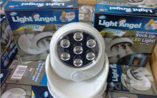 Kablosuz ve Pilli, 360°Dönebilen Light Angel Sensörlü Duvar Lambası Fırsatı