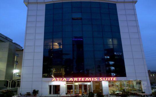 Asia Artemis Süite Ümraniye'de 2 Kişi 1 Gece Konaklama, Kahvaltı Fırsatı