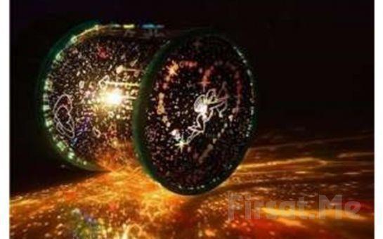 Muhteşem Ambians ve Keyifli Işık Şovu! Kalp Projeksiyonlu Gece Lambası Star Lover!