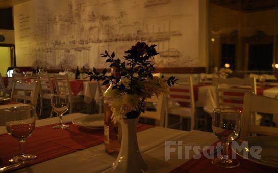 Ortaköy Bodrum Balık Restaurant'ta Boğazın Eşsiz Güzelliği Eşliğinde İçki Dahil Sevgililer Gününe Özel Akşam Yemeği