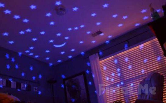 Odada Harika Bir Gece Ve Gökyüzü Görüntüsü Sağlayan Işıklı Kaplumbağa