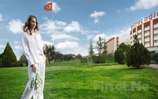 Türkiye'nin İlk 5 Yıldızlı Termal SPA ve Sağlık Oteli Afyon Oruçoğlu Termal Resort Otel'de Kişi Başı 1 Gece Oda Kahvaltı veya Yarım Pansiyon Konaklama Keyfi