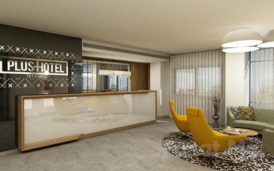 Mükemmel Konumlu Plus Hotel Bostancı'da 2 Kişi 1 Gece Konaklama Keyfi