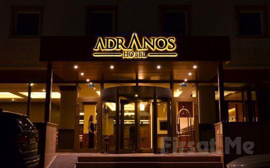 Adranos Hotel Bursa'da 2 Kişi 1 Gece Konaklama + Kahvaltı + SPA ve Türk Hamamı Kullanımı!