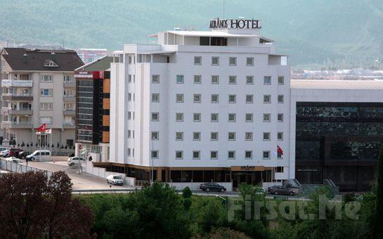 Adranos Hotel Bursa'da 2 Kişilik Konaklama ve Kahvaltı Keyfi