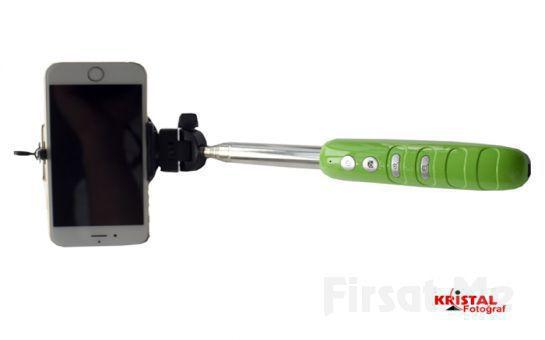Dahili Buletoothlu Zoom Özellikli Selfie Çubuğu!