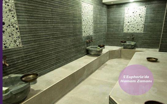 S'euphoria Spa Center Ümraniye'de Kese, Köpük, 7 Farklı Masaj Seçeneği, Islak Alan Kullanımı