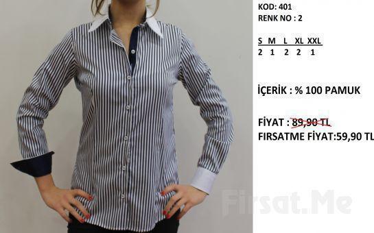 Altegro'dan %100 Pamuklu Kadın Gömlek!