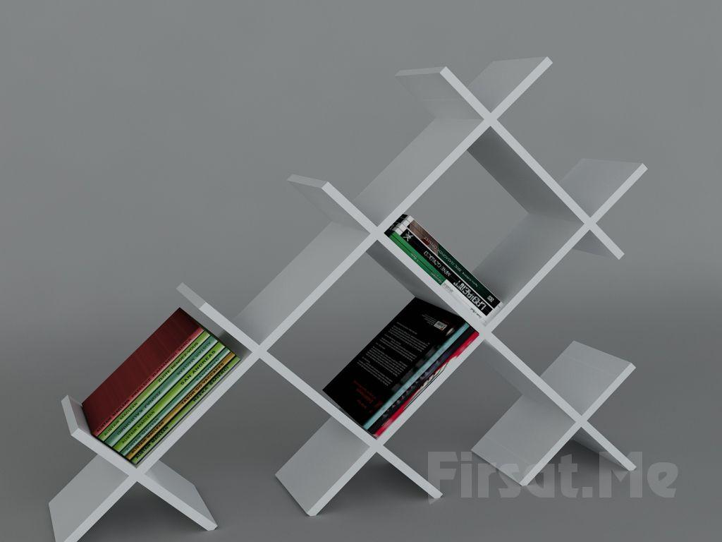 Dekorister Modüler Mobilya'dan, 2 Ayrı Renkte 'Dekorister Discuss Kitaplık' Fırsatı