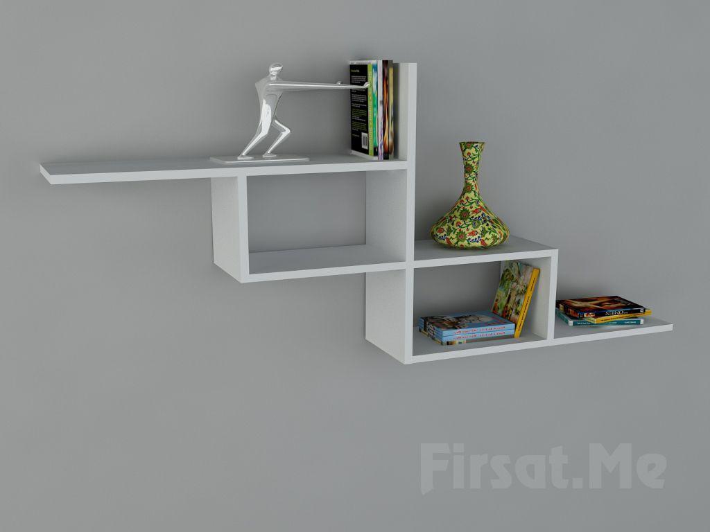 Duvara Monte Kitaplık mı Arıyorsunuz? 2 Ayrı Renk Seçeneği ile Dekorister Motif Kitaplık - (1) Fırsatı
