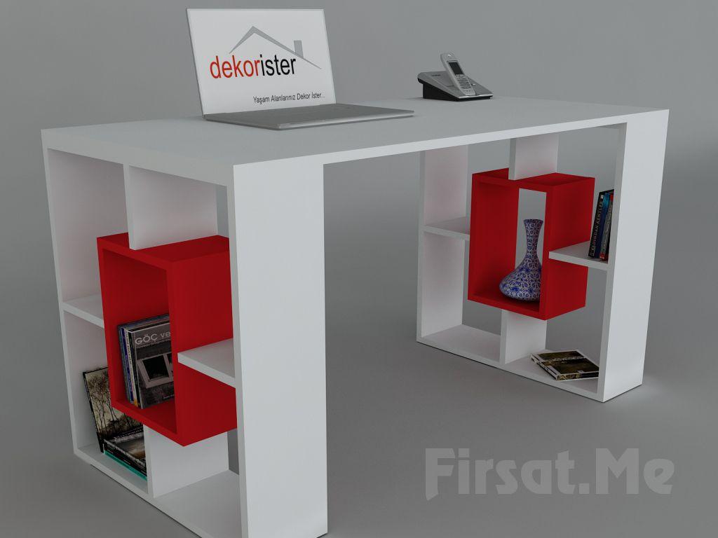 Dekorister Modüler Mobilya'dan, 3 Ayrı Renkte 'Dekorister Valancia Çalışma Masası' Fırsatı