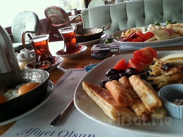 Merter Şelale Cafe'de Serpme Kahvaltı veya Her Pazar Açık Büfe Kahvaltı Keyfi