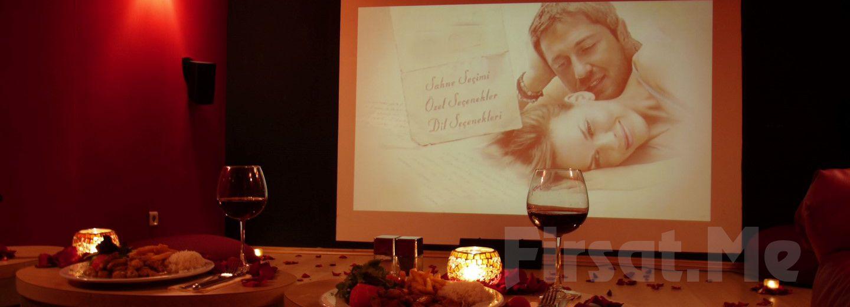 Cihangir Kafika'da Özel Sinema Odasında 2 Kişilik Romantik Sinema Keyfi!