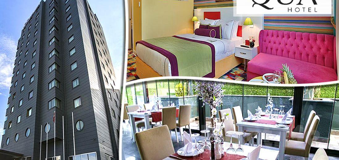 5 *'lı Qua Hotel Atatürk Airport Bağcılar'da Kişi Başı 1 Gece Konaklama, Kahvaltı ve Masaj Seçeneğiyle!
