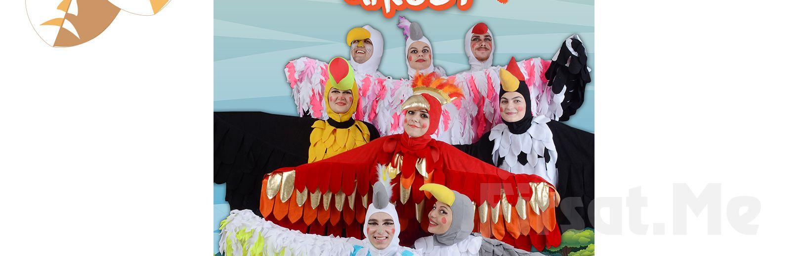 """Çocuklarınız için Tek Perde """"CESUR KANATLAR ÜLKESİ"""" Tiyatro Oyunu Bileti!"""