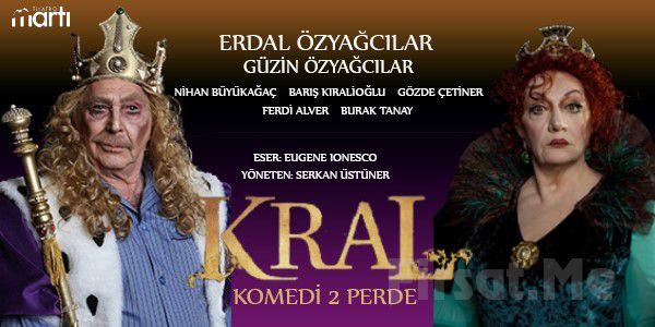 Erdal Özyağcılar ve Usta Oyunculardan Absürd Komedi Kral Tiyatro Oyun Bileti