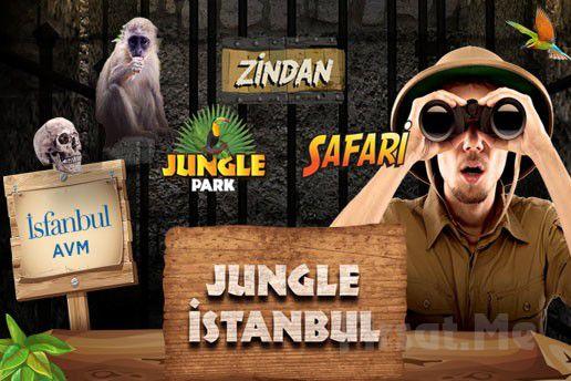 İsfanbul AVM Jungle İstanbul'da Vahşi Doğada Gizemli Yolculuk Bileti