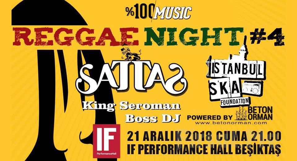 IF Performance Hall Beşiktaş'ta 21 Aralık'ta Sattas Reggae Night Konser Bileti