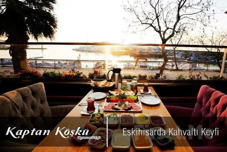 Eskihisar Kahve Deryası Kaptan Köşkü'nde Zengin Açık Büfe Kahvaltı Keyfi