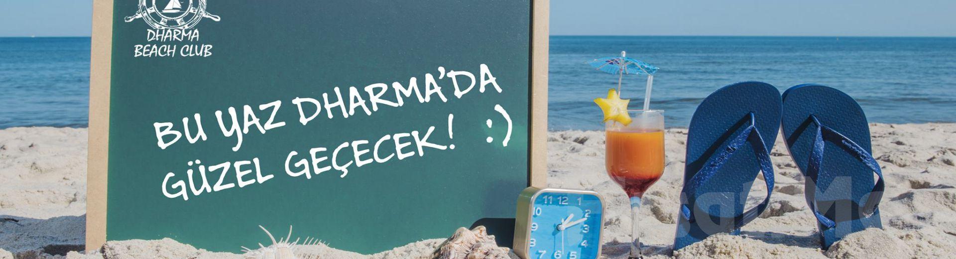 Çeşme Dharma Beach Club'ta Tüm Gün Plaj Girişi, Şezlong, Şemsiye, Pizza veya Hamburger Menü Seçenekleri