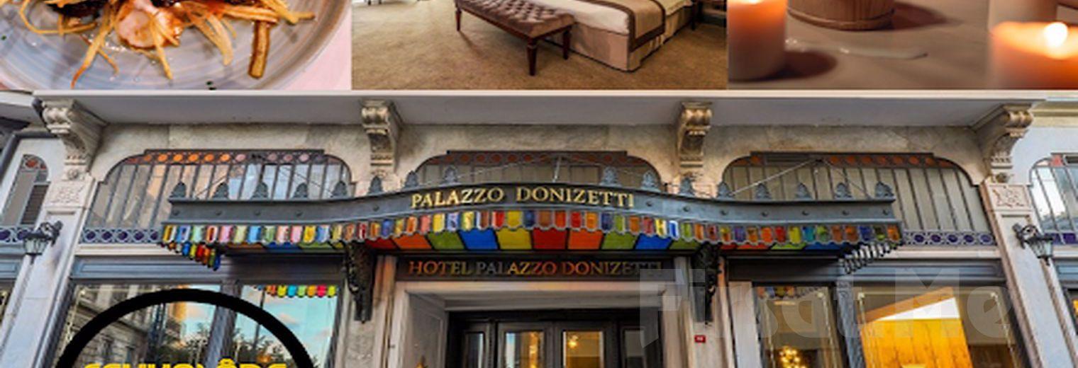 Palazzo Donizetti Hotel'de 2 Kişi 1 Gece Konaklama, Fevkalade Meyhane Restoran'da Özel Menü Yemek Menüsü, Kahvaltı ve Spa Kullanımı