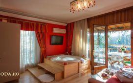 Ağva Tree Tops Park Otel'de Standart, Jakuzili ve Şömineli Bungalow Odalarda 2 Kişi 1 Gece kahvaltı Dahil Konaklama