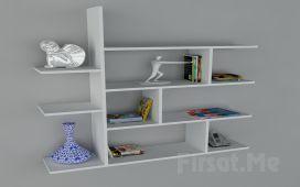 Duvara Monte Kitaplık mı Arıyorsunuz? 3 Ayrı Renk Dekorister (Motif Kitaplık-2) Fırsatı