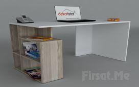Dekorister Modüler Mobilya'dan, 2 Ayrı Renkte 'Dekorister Labran Çalışma Masası'