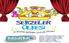 """Birdirbir Çocuk Tiyatrosu'ndan Cevahir AVM Fun Lab Çocuk Sahnesi'nde """"SEBZELER ÜLKESİ"""" Tiyatro Oyunu!"""