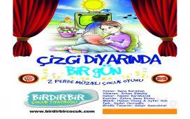 """Birdirbir Çocuk Tiyatrosu'ndan Cevahir AVM Fun Lab Çocuk Sahnesi'nde """"ÇİZGİ DİYARINDA BİR GÜN"""" Tiyatro Oyunu!"""