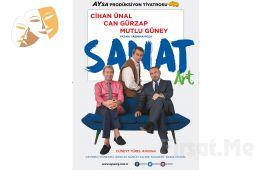 """Cihan Ünal, Can Gürzap ve Mutlu Güney'den """"SANAT"""" Tiyatro Oyun Bileti!"""